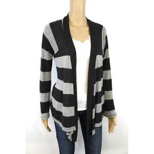 Splendid Women's Open Front Cardigan Gray Black